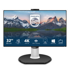 "PHILIPS 329P9H/00 4K(UHD), 31.5"", IPS, Webcam, 60Hz, 5ms, Docking USB-C, USB-C Port, DP, HDMI, Height adj. Speaker"