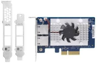 QNAP QXG-10G2T-107 Dual-port BASET 10GbE network expansion card low-profile form factor PCIe Gen2 x4
