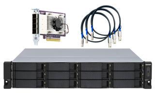 QNAP TL-R1200S-RP 12-bay 2U rackmount SATA JBOD expansion unit redundant PSU
