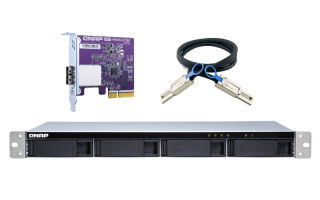 QNAP TL-R400S 4-bay 1U rackmount SATA JBOD expansion unit