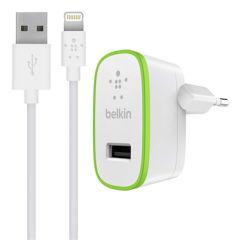 BELKIN CHARGEUR SECTEUR USB-A. 12W. CABLE 1M USB-A vers Lightning. BLANC
