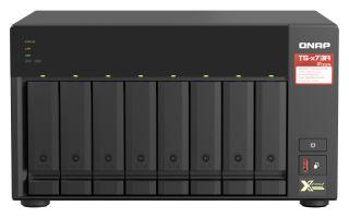 QNAP 8-bay NAS AMD Ryzen Embedded V1500B 2.2GHz 8Go 8xSATA 6Gb/s bays 2xM.2 NVMe PCIe Gen3 SSD slots 2x2.5GbE LAN optional 10GbE